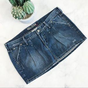 Hollister Pleated Denim Mini Skirt
